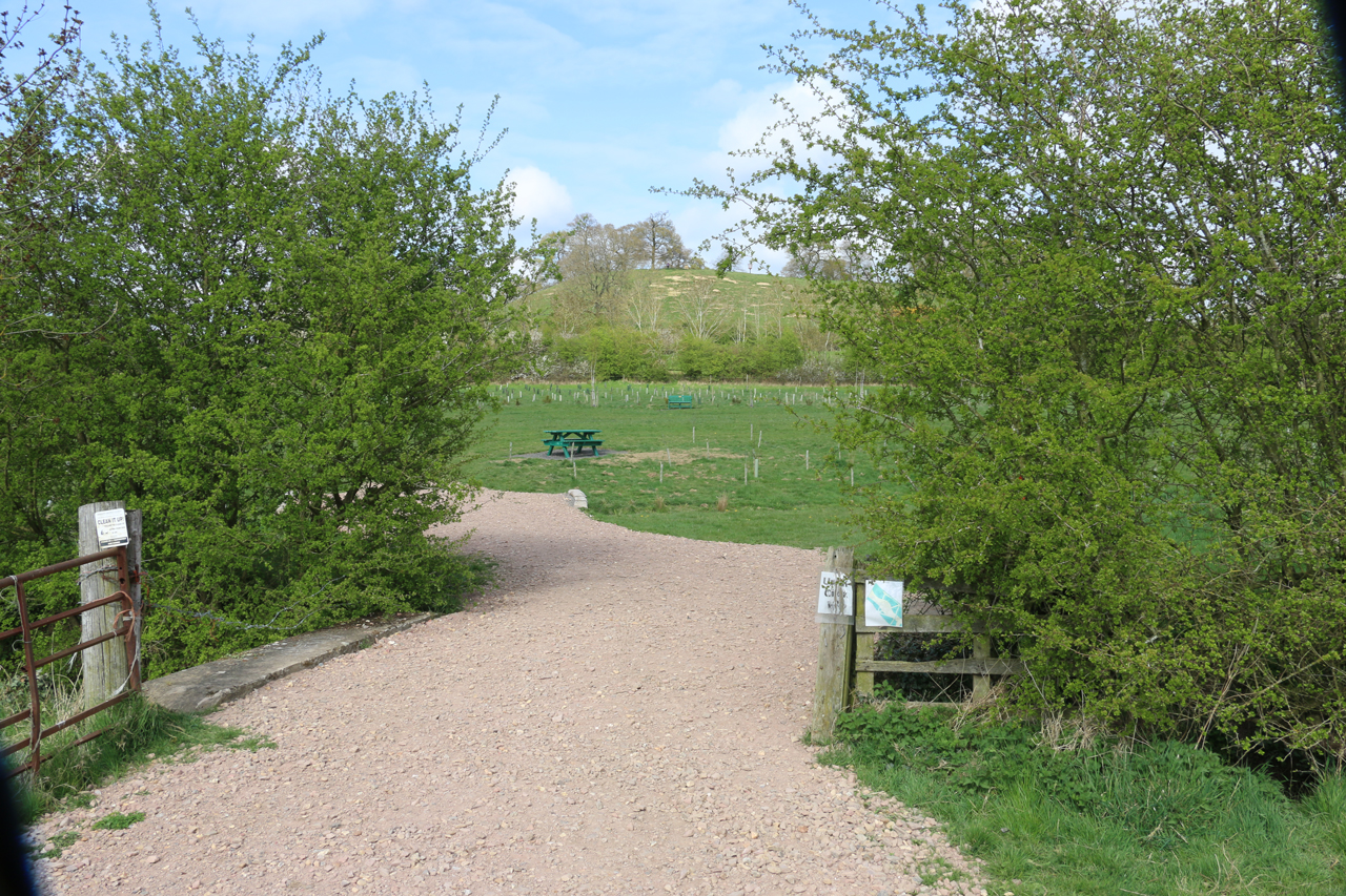 Gateway into Under Crick Hill with view of Cracks Hill, Spring 2015
